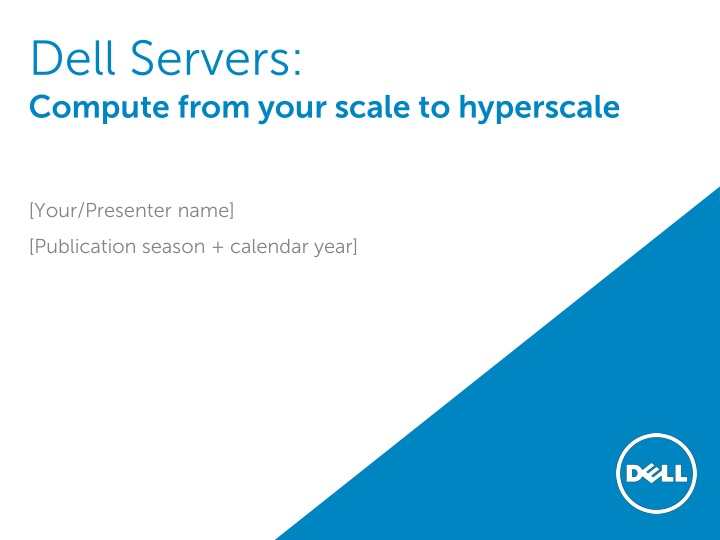 dell servers compute from your scale to hyperscale n.