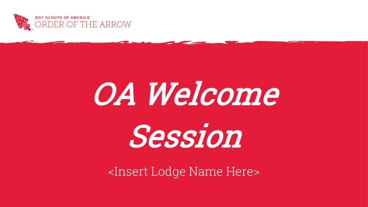 oa welcome session n.
