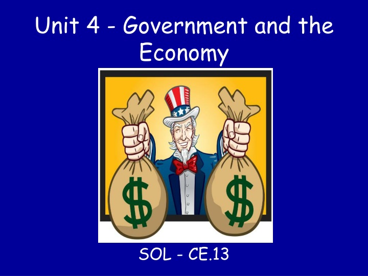 unit 4 government and the economy n.