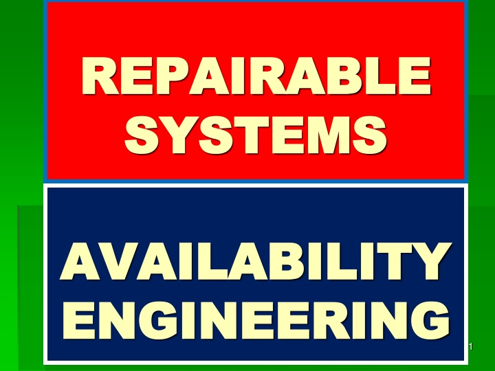 repairable systems n.