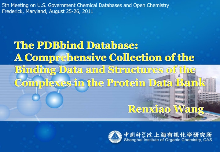 5th meeting on u s government chemical databases n.