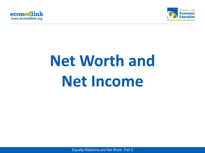 net worth and net income n.