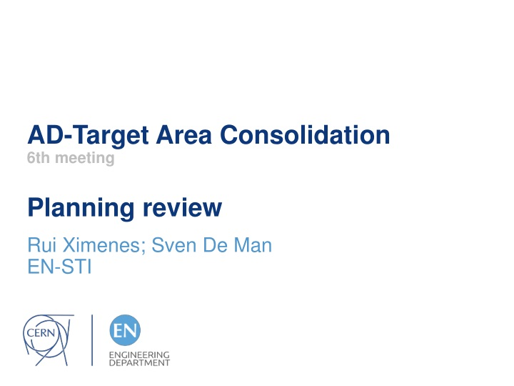 ad target area consolidation 6th meeting planning review n.