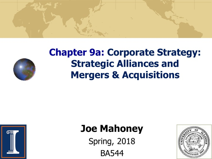 chapter 9a corporate strategy strategic alliances and mergers acquisitions n.