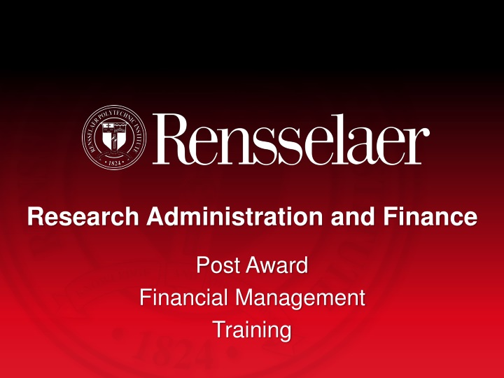 research administration and finance n.