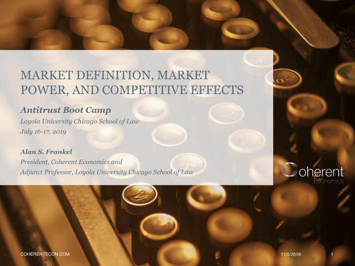 market definition market power and competitive effects n.