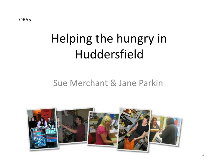 helping the hungry in huddersfield n.