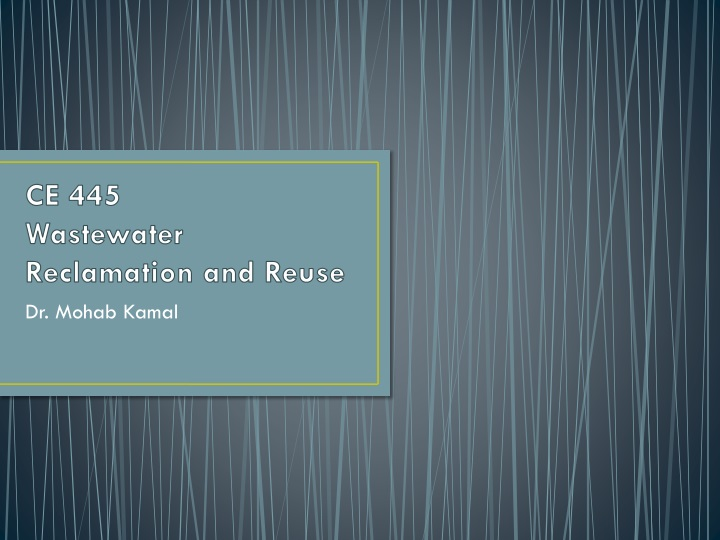 ce 445 wastewater reclamation and reuse n.