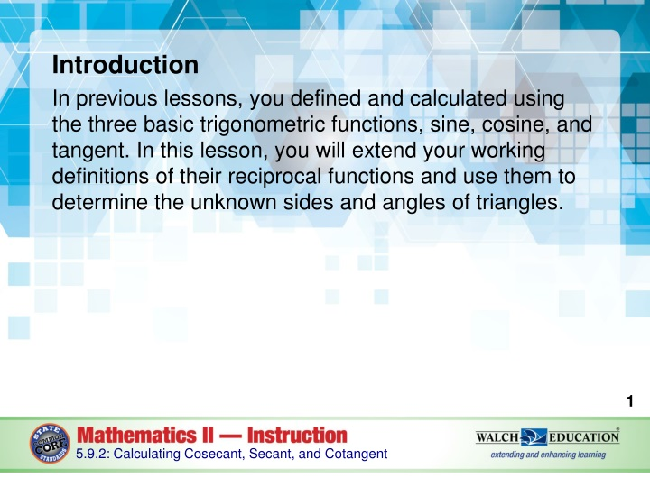 introduction in previous lessons you defined n.