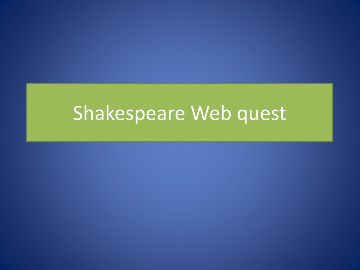 shakespeare web quest n.