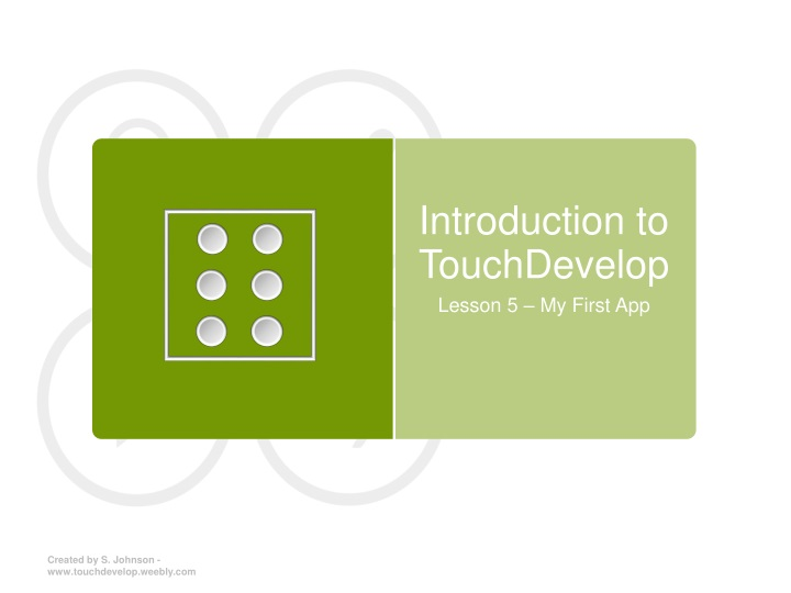 introduction to touchdevelop n.