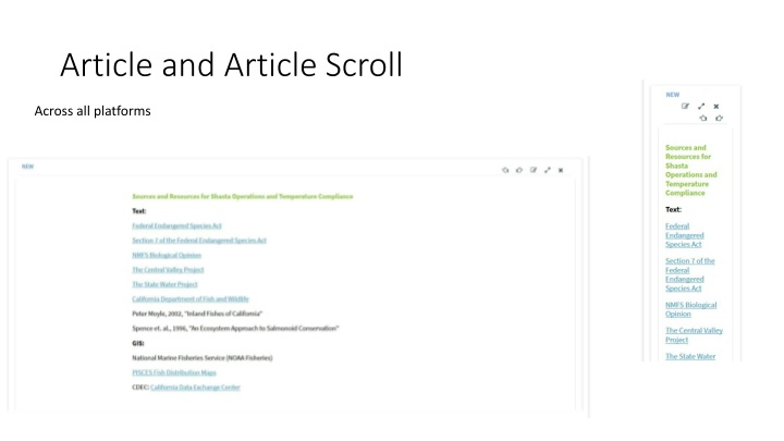 article and article scroll n.