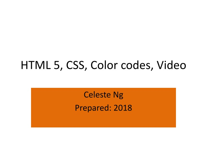 html 5 css color codes video n.