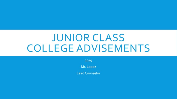 junior class college advisements n.