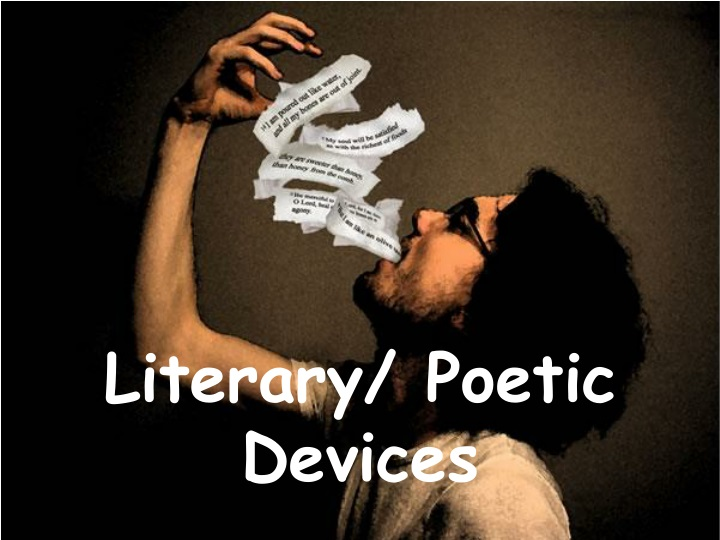 literary poetic devices n.