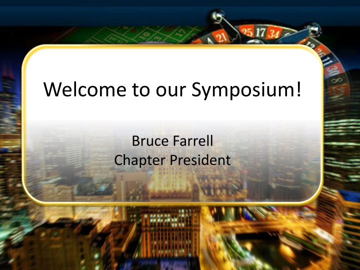 welcome to our symposium n.