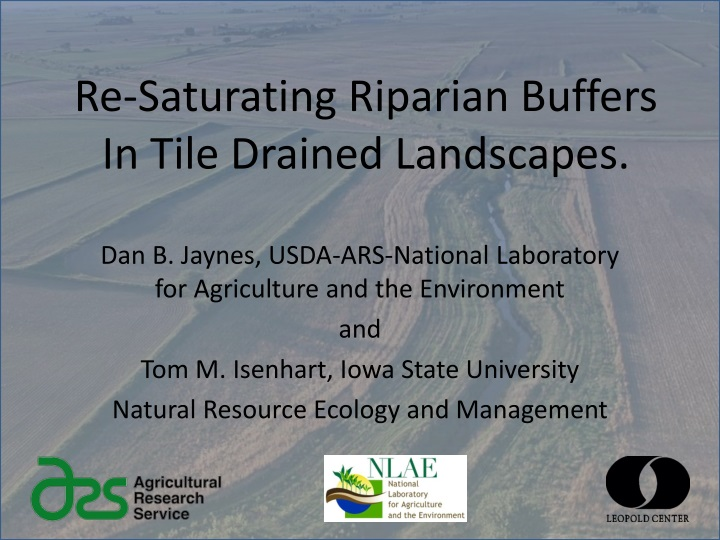 re saturating riparian buffers in tile drained landscapes n.