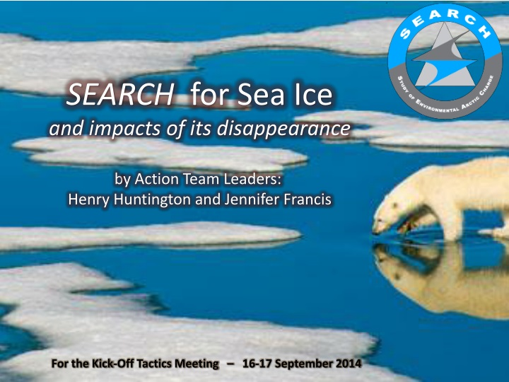 search for sea ice a nd impacts n.