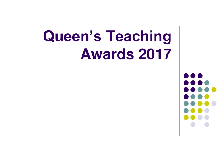 queen s teaching awards 2017 n.