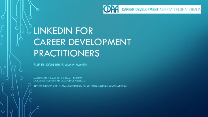 linkedin for career development practitioners n.