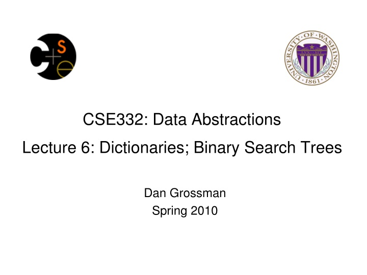 cse332 data abstractions lecture 6 dictionaries binary search trees n.
