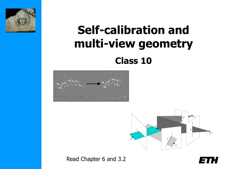 self calibration and multi view geometry class 10 n.