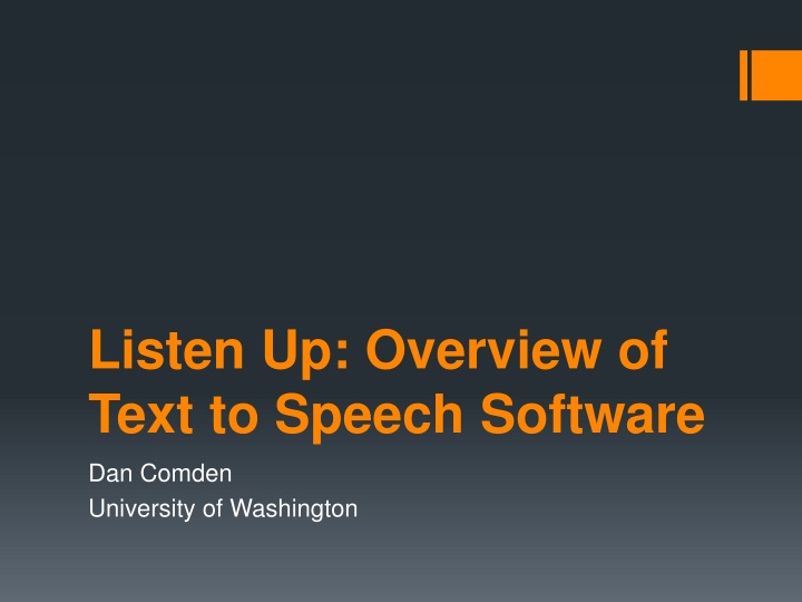 listen up overview of text to speech software n.
