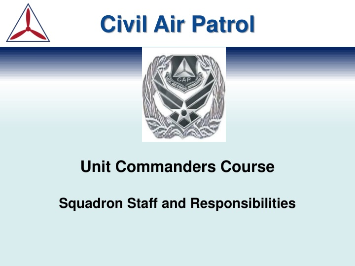 unit commanders course squadron staff and responsibilities n.