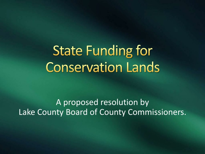 state funding for conservation lands n.