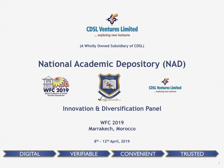 a wholly owned subsidiary of cdsl national n.