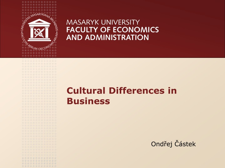cultural d ifferences in business n.