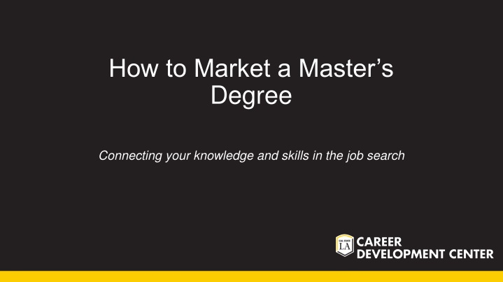 how to market a master s degree n.