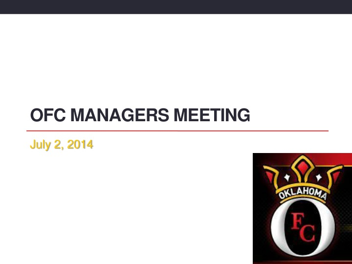 ofc managers meeting n.