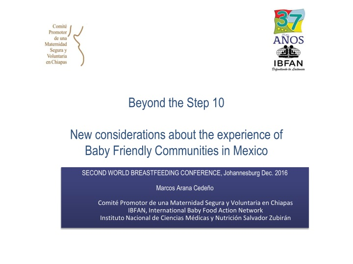 beyond the step 10 new considerations about the experience of baby friendly communities in mexico n.