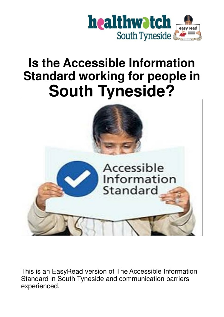 is the accessible information standard working n.