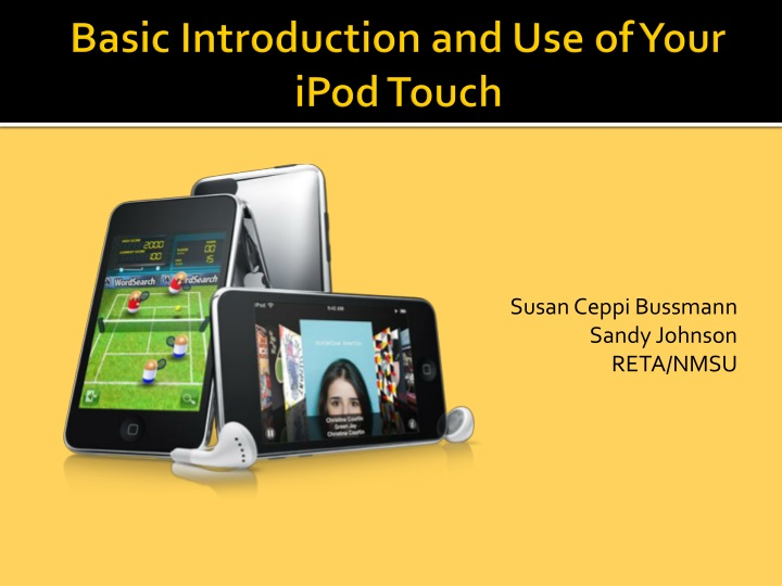 basic introduction and use of your ipod touch n.