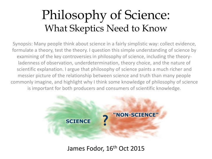 philosophy of science what skeptics need to know n.