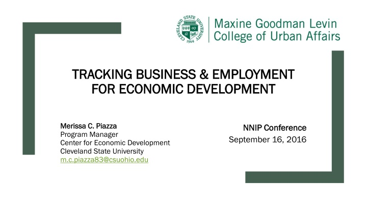 tracking business employment for economic development n.