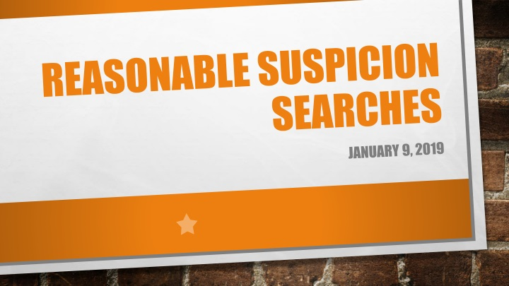 reasonable suspicion searches n.