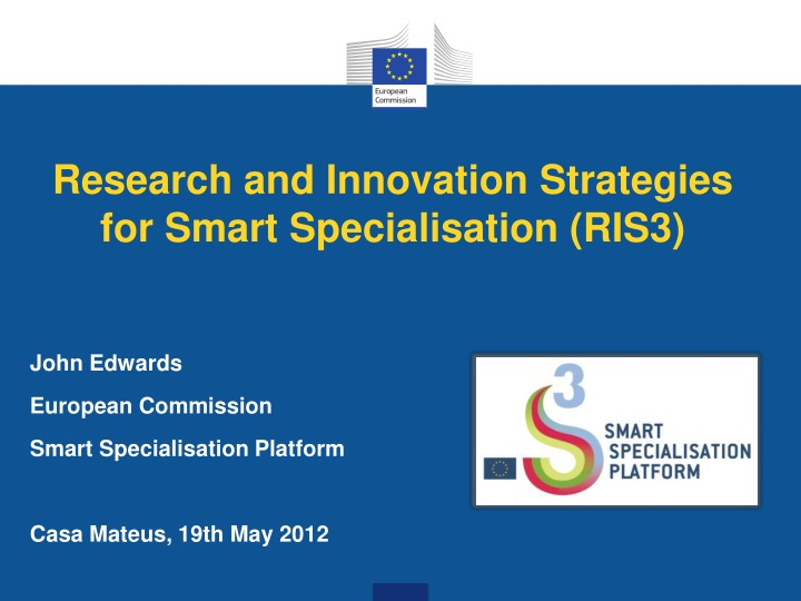 research and innovation strategies for smart specialisation ris3 n.