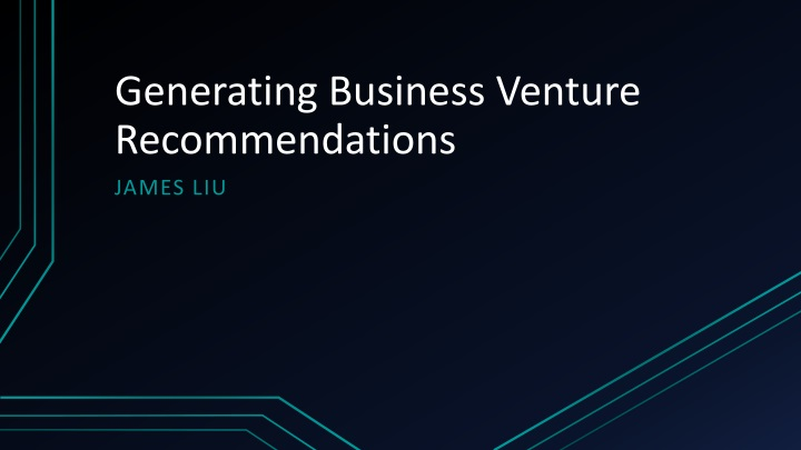 generating business venture recommendations n.