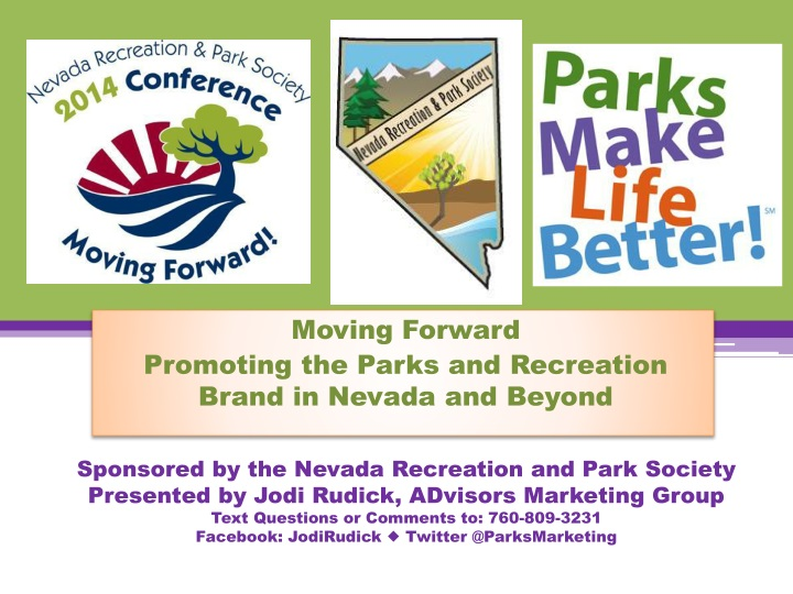 moving forward promoting the parks and recreation brand in nevada and beyond n.