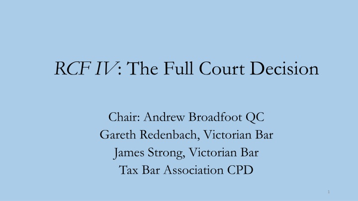rcf iv the full court decision chair andrew n.