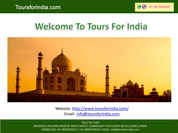 welcome to tours for india n.