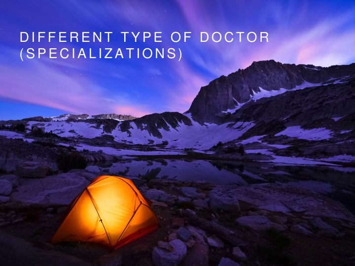 different type of doctor specializations n.