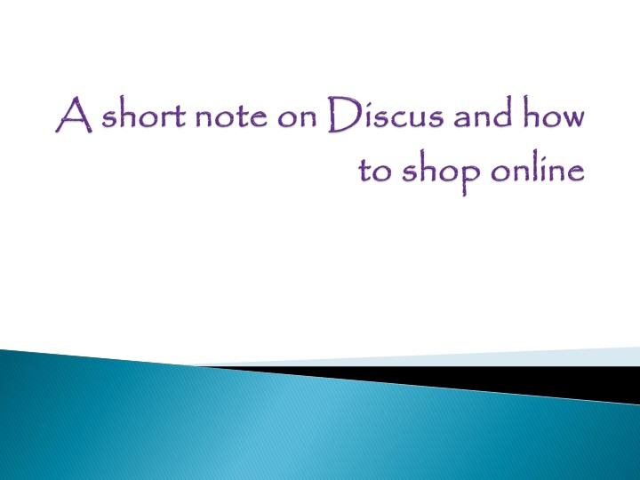 a short note on discus and how to shop online n.