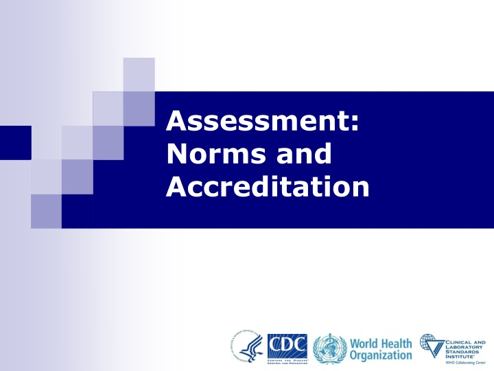 assessment norms and accreditation n.