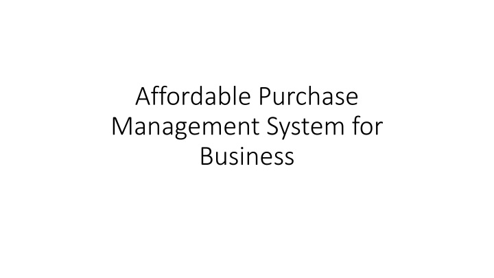 affordable purchase management system for business n.