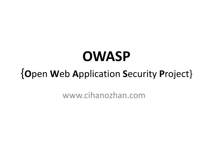 owasp o pen w eb a pplication s ecurity p roject n.