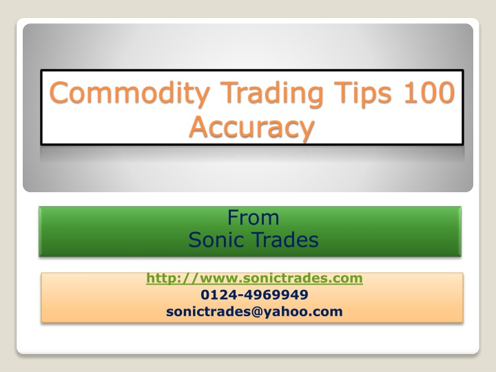 commodity trading tips 100 accuracy n.